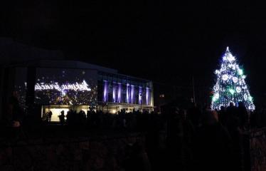 Kalėdinės eglutės įžiebimas - Šventės akimirka