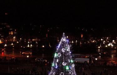 Kalėdinės eglutės įžiebimas - Anykščių miesto eglė