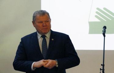 Bibliotekos 80-ojo gimtadienio šventė - Anykščių rajono meras Kęstutis Tubis