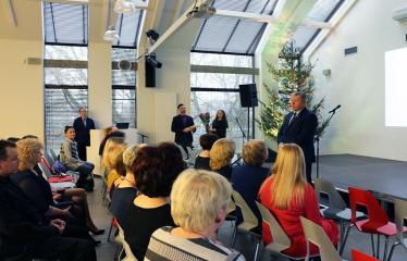 Bibliotekos 80-ojo gimtadienio šventė - Anykščių rajono mero Kęstutio Tubio sveikinimas