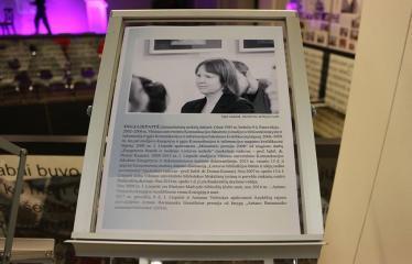 Bibliotekos 80-ojo gimtadienio šventė - Literatūrinės Antano Baranausko premijos įteikimo iškilmės - Inga Liepaitė