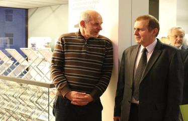 Bibliotekos 80-ojo gimtadienio šventė - Literatūrinės Antano Baranausko premijos įteikimo iškilmės - Linas Bitvinskas ir Antanas Verbickas