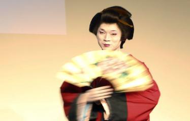 Japoniškų šokių, tradicinio teatro grimo ir kimono pristatymas - Aktorius Takakage Fudžima