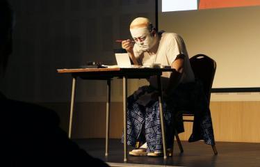 Japoniškų šokių, tradicinio teatro grimo ir kimono pristatymas - Takamasa Fudžima - Grimas