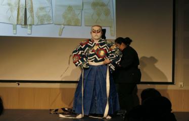 Japoniškų šokių, tradicinio teatro grimo ir kimono pristatymas - Takamasa Fudžima - Kostiumas