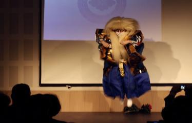 Japoniškų šokių, tradicinio teatro grimo ir kimono pristatymas - Takamasa Fudžima - Pasirodymas