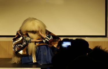 Japoniškų šokių, tradicinio teatro grimo ir kimono pristatymas - Atoriaus pasirodymas - šokis