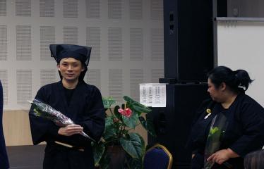 Japoniškų šokių, tradicinio teatro grimo ir kimono pristatymas - Aktoriai Takakage Fudžima ir Tatsumi Fudžima