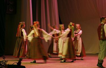 """Lietuvos valstybės atkūrimo diena Anykščiuose (2018) - Šimtmečio anykštėno ženklo įteikimas ir AKC Meno mėgėjų koncertas """"Man gera čia gyventi, nes..."""" - Tautinių šokių ansamblis """"Gojus"""""""