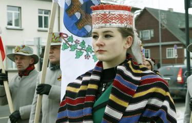 """Lietuvos valstybės atkūrimo diena Anykščiuose (2018) - Varpų sąšauka """"GLORIA LIETUVAI"""" - Renginio akimirka"""