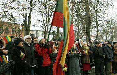 """2018 02 16 - Lietuvos valstybės atkūrimo diena Anykščiuose (2018) - Varpų sąšauka """"GLORIA LIETUVAI"""""""