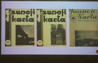 """Fotografo Tomo Ivanausko paskaita """"Spaudos fotografo Izidoriaus Girčio veikla Lietuvoje 1933-1940 metais"""" - Izidoriaus Girčio fotografijos žurnalų viršeliuose"""