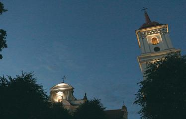 """Tarptautinė edukacinė stovykla - festivalis """"Troškimai"""" (2018) - Roko vakaras - Troškūnų Švč. Trejybės bažnyčia ir bernardinų vienuolynas"""