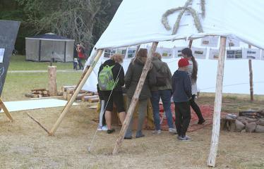 Anykščių Miško festivalis (2018) - Panirimas į mišką - Tipis - Paroda