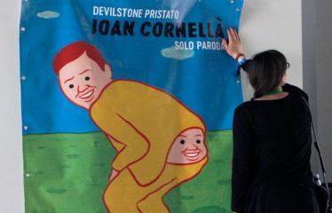 Devilstone pristato - Joan Cornellà solo paroda - Plakatas