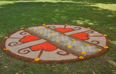 """Anykščių miesto šventė (2018) - """"Anykščių glėbyje"""" - Pilna programa - Viešintų kaimo bendruomenės floristinis kilimas"""