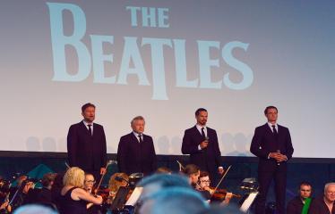 """Anykščių miesto šventė (2018) - """"Anykščių glėbyje"""" - Teatralizuotas koncertas """"The Beatles Show"""" - Koncerto akimirka"""