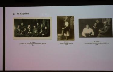 """Menotyrininko Tomo Ivanausko paskaita """"Anykščių fotografai žydai: I. Mulcas, N. Kopans, Icikas Melnikas, Liba Kaganienė"""" - Skaidrė"""