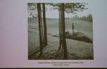 """Menotyrininko Tomo Ivanausko paskaita """"Puntuko akmuo kaip vizualiosios atminties saugykla"""" - Skaidrė"""
