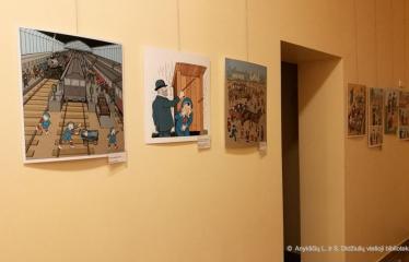 Kavarsko miesto bibliotekoje unikali amerikiečio karikatūristo paroda - Akimirkos