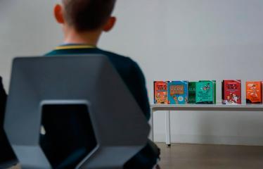 Susitikimas su vaikų rašytoju Tomu Dirgėla - Susitikimo akimirka