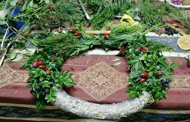 """Naujųjų Elmininkų bendruomenėje """"Advento popietė"""" - Advento vainikas"""