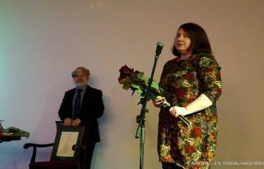 Knygos šventė (2018) / Antano Baranausko literatūrinės premijos įteikimo vakaras - Sveikinimai