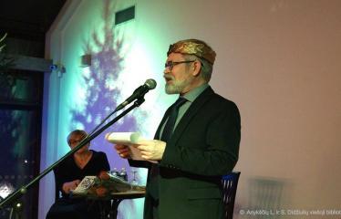 Knygos šventė (2018) / Antano Baranausko literatūrinės premijos įteikimo vakaras - Vladas Braziūnas