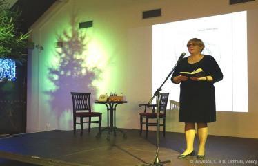 Knygos šventė (2018) / Antano Baranausko literatūrinės premijos įteikimo vakaras - Šventinio vakaro akimirka