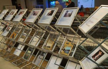 Knygos šventė (2018) / Antano Baranausko literatūrinės premijos įteikimo vakaras - Vlado Braziūno knygų paroda
