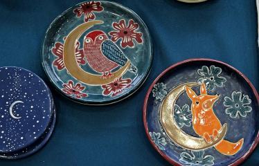 Kalėdinė mugė Anykščių menų inkubatoriuje - Dekoratyvinės lėkštės