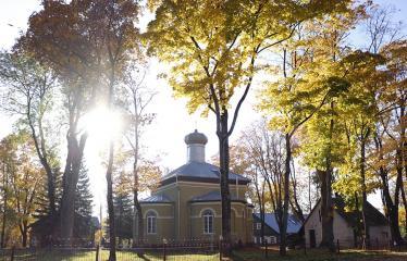 """Fotokonkursas """"Anykščiai ir apylinkės"""" (2018) - Šventojo Aleksandro Neviškio cerkvė rudenį"""