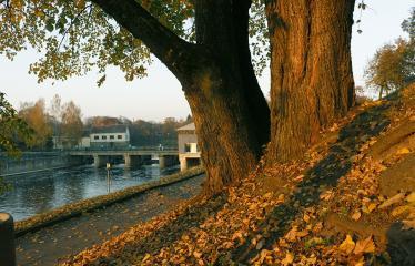 """Fotokonkursas """"Anykščiai ir apylinkės"""" (2018) - Šventosios upės krantinė spalio mėnesį"""