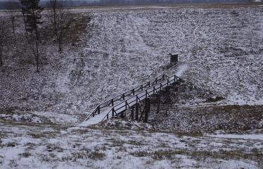 """Fotokonkursas """"Anykščiai ir apylinkės"""" (2018) - Vorutos piliakalnis žiemą"""