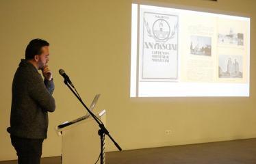 """Tomo Ivanausko paskaita """"Anykščių krašto reprezentacija nacionalinėje spaudoje 1918 - 1940"""" - Menotyrininkas Tomas Ivanauskas"""