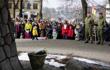 Lietuvos valstybės atkūrimo diena Anykščiuose (2019) - Valstybinės vėliavos pakėlimo ceremonija - Šventės akimirkos