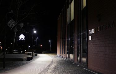 """Fotokonkursas """"Anykščiai ir apylinkės"""" (2019) - Anykščių L. ir S. Didžiulių viešoji biblioteka - Žiemos vakaras"""