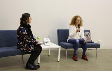 """Evos Tombak knygos """"Minčių žvėrynas"""" pristatymas Anykščiuose - Rašytoja Eva Tombak"""