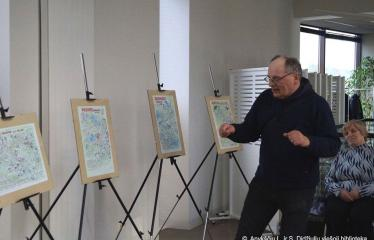 """Raimondo Guobio paroda """"Nuspalvintas pasaulis"""" / Susitikimas su autoriumi - Raimondas Guobys"""