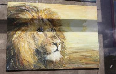 Reginos Sasnauskaitės tapybos darbų paroda - Liūtas