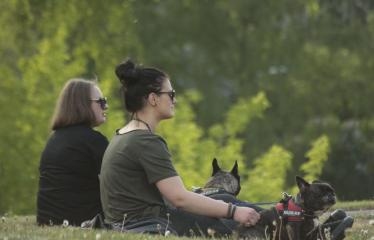 Gatvės muzikos diena Anykščiuose (2019) / Pamatyk muziką - Merginos su šuniukais