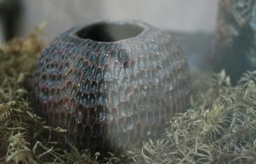Aleksandros Gromadskos keramikos kūrinių paroda - Molio vazelė