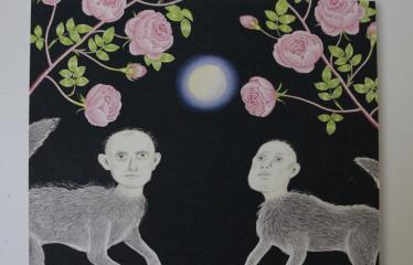 """Baltijos valstybių 100-mečiui skirta tarptautinė vaikų knygų iliustruotojų paroda """"Bėgimas su vilkais"""" - Anita Paegle """"Vilkės"""""""