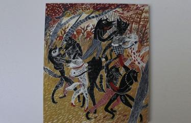 """Baltijos valstybių 100-mečiui skirta tarptautinė vaikų knygų iliustruotojų paroda """"Bėgimas su vilkais"""" - Anna Vaivare """"Lėtas šokis"""""""