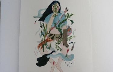 """Baltijos valstybių 100-mečiui skirta tarptautinė vaikų knygų iliustruotojų paroda """"Bėgimas su vilkais"""" - Piešinys"""