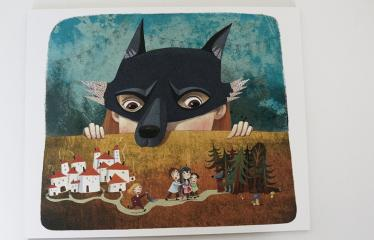 """Baltijos valstybių 100-mečiui skirta tarptautinė vaikų knygų iliustruotojų paroda """"Bėgimas su vilkais"""" - Lina Žutautė """"Pasaka apie vilką"""" - Skaitmeninė grafika"""