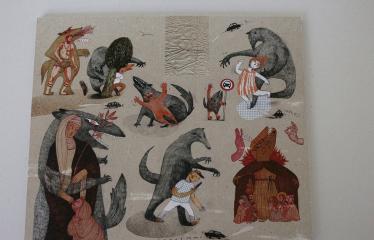 """Baltijos valstybių 100-mečiui skirta tarptautinė vaikų knygų iliustruotojų paroda """"Bėgimas su vilkais"""" - Lina itagaki """"Bėgimas su vilkais"""""""