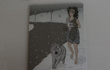 """Baltijos valstybių 100-mečiui skirta tarptautinė vaikų knygų iliustruotojų paroda """"Bėgimas su vilkais"""" - Iliustracija"""
