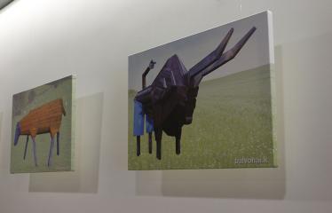 Žilvino Prano Smalsko medinių skulptūrų fotografijų paroda - Avis / Jautis