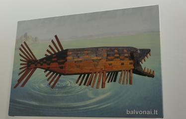 Žilvino Prano Smalsko medinių skulptūrų fotografijų paroda - Žuvis